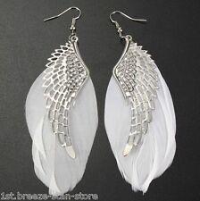 Chandelier Drop Long Earrings 1 pair Angel Wing Feather Dangle Earring Lady