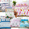 Tropical Beach, Flamingo, Seagulls, Llamas, Summer prints Duvet Quilt Cover Set