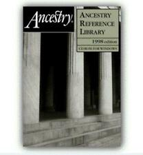 Ancestry Reference Library 1998 Edition PC CD genealogical reference works