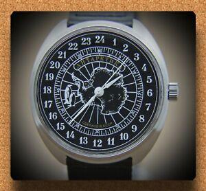 "Russian mechanical (Hand-winding) watch 24 Hours movement  Raketa ""Antarctic-2"""