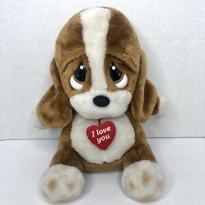 Sad Sam I Love You Plush Talking Basset Hound Puppy Dog  Applause Works! HTF