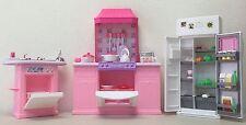 Barbie Size Dollhouse Furniture  Kitchen Play Set
