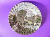 """1940's Myott """"England's Charm"""" Dinner Plate, Hand Finished Staffordshire Plate"""