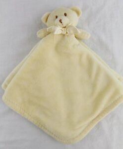 Blankets & Beyond Yellow Teddy Bear Lovey Security Blanket