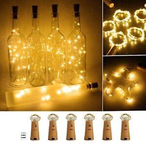 Wine Bottle Cork Light Garland Warm White LED Copper Light For Party Decoration