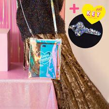 Harajuku Stylish Girl Messenger Bag Laser Transparent Packet Colorful Key Chain
