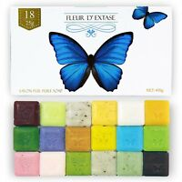 Fleur D' Extase (Ecstacy) Soap Gift Set With 18 Bars Of Guest Soaps - All Natura