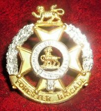 CAP BADGES-ORIGINAL 1950's OFFICERS SILVER AND GILT FORESTER BRIGADE BY GAUNT