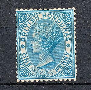 NNAE 203 BRITISH HONDURAS BELIZE 1872 MNG MICH 4 A PERF 12 1/2