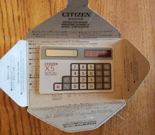 Citizen X5 Credit Card Solar Calculator In Original Envelope Made in Japan RARE