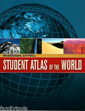 MCDOUGAL LITTELL ATLAS OF THE WORLD MAPS GEOGRAPHY 6TH GRADE 6 7 8 HOMESCHOOL