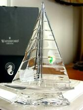 Waterford Large Crystal SAILBOAT Sculpture Figurine IRELAND - NEW / BOX!