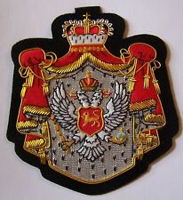 Serbia Montenegro Yugoslavia Royal Kingdom State Eagle Crest Bullion Patch Seal