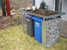Mülltonnenbox Müllbox Mülltonnengabione 2x240-l-P-Gabio