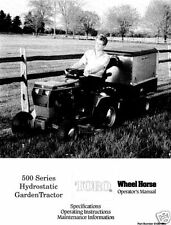 Wheel Horse 500 Series Operators Manual Model # 520H