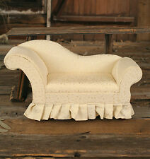 Fully Upholstered Doll Bear Chaise Sofa FACTORY SECOND Cream 55cms NEW