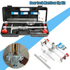 Mortice Door Fitting Jig Lock Mortiser DBB Key JIG1 With 3 Cutters & Ruler