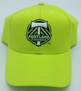 MLS Portland Timbers Adult Structured Adjustable Fit Curved Brim Cap Hat NEW!