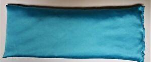 Morning Sickness/Sleep/Migraine Satin Eye Pillow Lavender Linseed: Bright blue