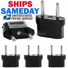 5PC European US USA to Euro EU Travel Wall Power Plug Outlet Converter Adapter