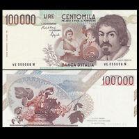 Italy 100000 (100,000) Lire, 1983, P-110, banknote, UNC,Original