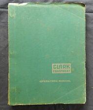 1962 1968 Clark C500 30 40 50 H Amp Hy Series Forklift Operators Manual 200 Pgs