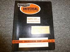 Pettibone Universal 5 x 12 Screenmaster Vibrating Screen Owner Operator Manual