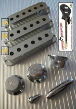 NEW COVERS & KNOBS STRAT 52mm ARGENT pour  guitare stratocaster