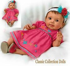"Ashton Drake ""MAYA"" COLLECTORS EDITION-LIFELIKE  BABY GIRL DOLL-NEW-IN STOCK NOW"