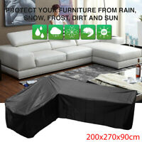 Waterproof Garden Rattan Corner Furniture Cover Outdoors Sofa Protect L Shape