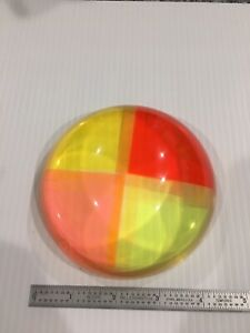 Acrylic Lucite MCM Op Art Prism Dome Paperweight Sculpture Beautiful #2