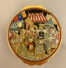 Halcyon Days Teddy Bear Fair Enamel Box