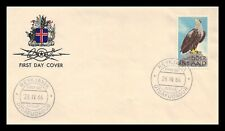 Iceland 1966 FDC, Sea-Eagle. Lot # 3.
