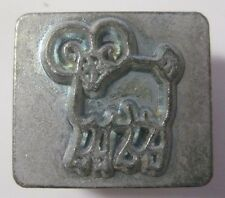 Vintage Craftool RAM MOUNTAIN ANIMAL Stamp 8244 Leather Crafting Tool ARIES