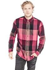 Guess Men's Plaids & Checks Slim Fit Snap Front Shirt , Size:XL , MSRP 79 $