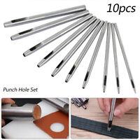 10x Poinçon creux de trou acier défoncement ceinture en cuir résistant 0.5mm-5mm