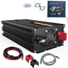 Pure Sine Wave Power Inverter 1500w 3000 Watt 24v to 240v Converter Soft Start
