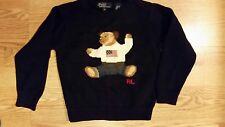 Polo by Ralph Lauren Boys Teddy Bear Sweater Size 5 Warm SUPER ADORABLE Flag