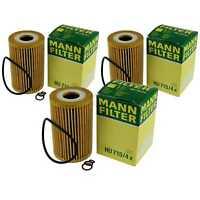 3x Original MANN-FILTER Ölfilter Oelfilter HU 715/4 x Oil Filter