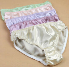 6 Pcs Women's 100% Silk Panties Briefs Bikinis Size:S M L XL XXL Solid China