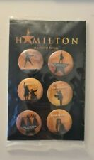 Hamilton Musical Broadway Pin Back Badge Set of 6 - New!