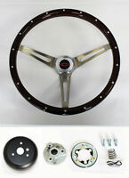 Blazer C10 C20 C30 Pick Up Wood Steering Wheel Rivets High Gloss Red/Blk 15""