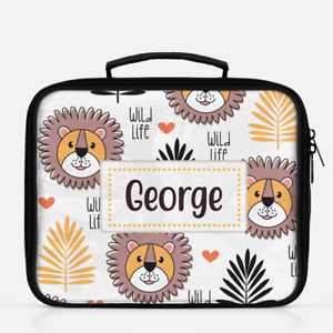 Personalised Lion Lunch Box Lunch Cooler Sandwich School Bag