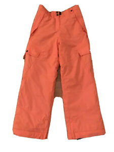 PWDR Room Youth Nylon Ski Pants Coral Size Large