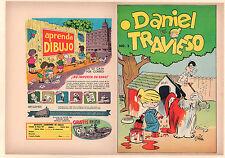 Daniel el Travieso #2 Unused Comic Book Cover - Mexican Reprint (Grade 9.0) 1954