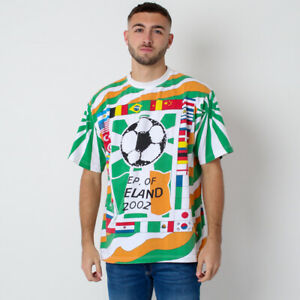 Vintage Republic of Ireland 2002 Football World Cup All over Print Flag T-Shirt