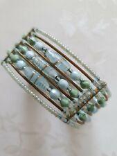 Accessorize Accessorise Light Blue Green Stone Bracelet