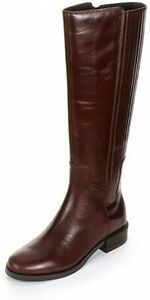Clarks MARQUETTE SILK Brown Leather Zip Up Knee High Boots BNIB, UK 4 D (EU 37)