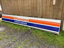 Very big 18ft plus husqvarna lighted sign, Does work,Husqvarna chainsaw sign.Wow