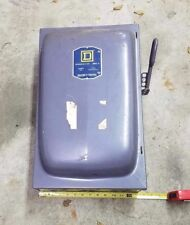 Square D Safety Switch Single Throw Fusible S/N CAT. D97314 Series A1 240 Volts